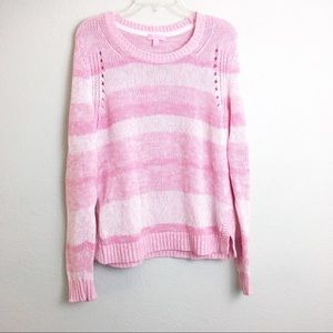 Lilly Pulitzer Pink Knit Striped Sweater